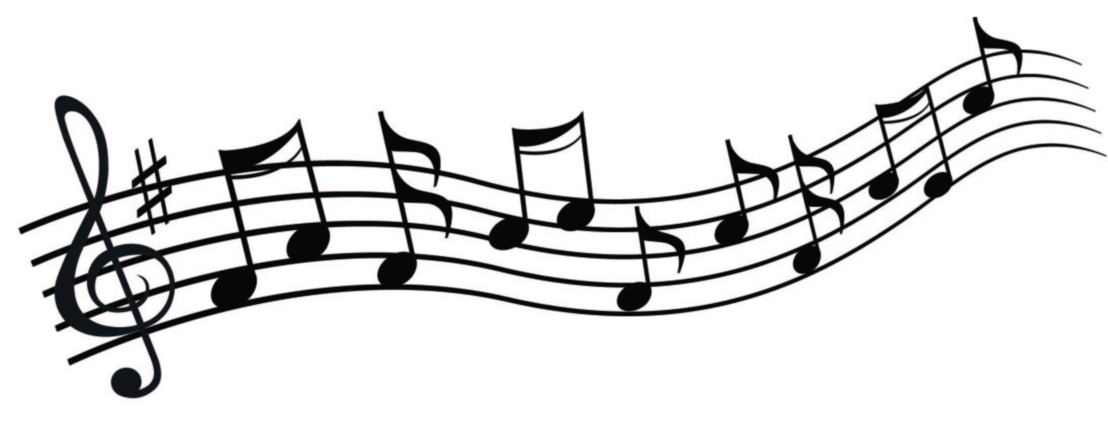 2184x843 Music Notes Clipart Winter