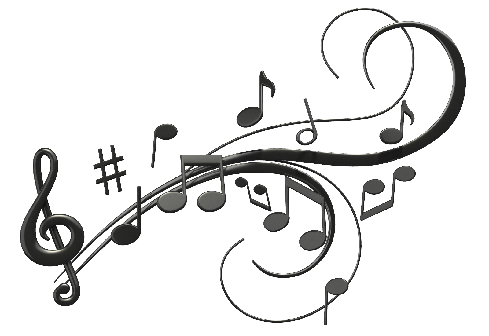 1600x1100 Music Notes Black And White Jazz Music Notes Clipart
