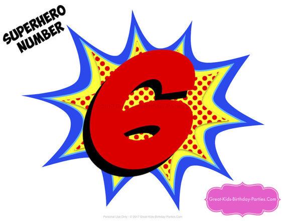 570x441 Superhero Number Superhero Printables Number 6 Superhero