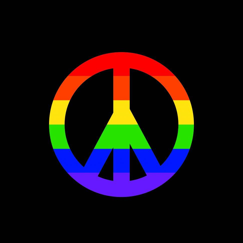 970x970 Free Stock Photo Of Rainbow Colored Peace Sign