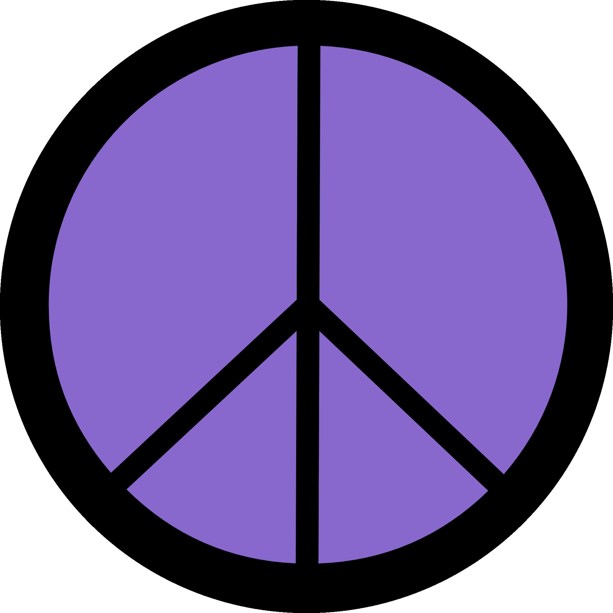1979x1979 Peace Sign Clipart Purple