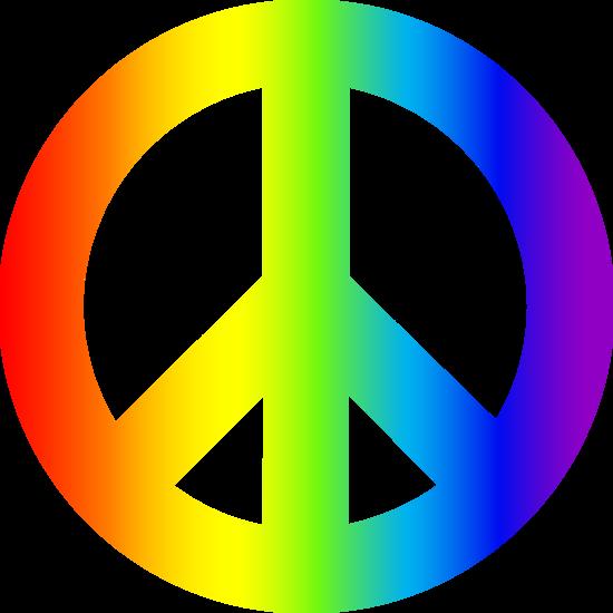 550x550 Rainbow Peace Sign Clipart Panda