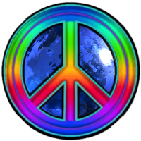 200x200 Rainbow Peace Sign Logo Clipart Panda