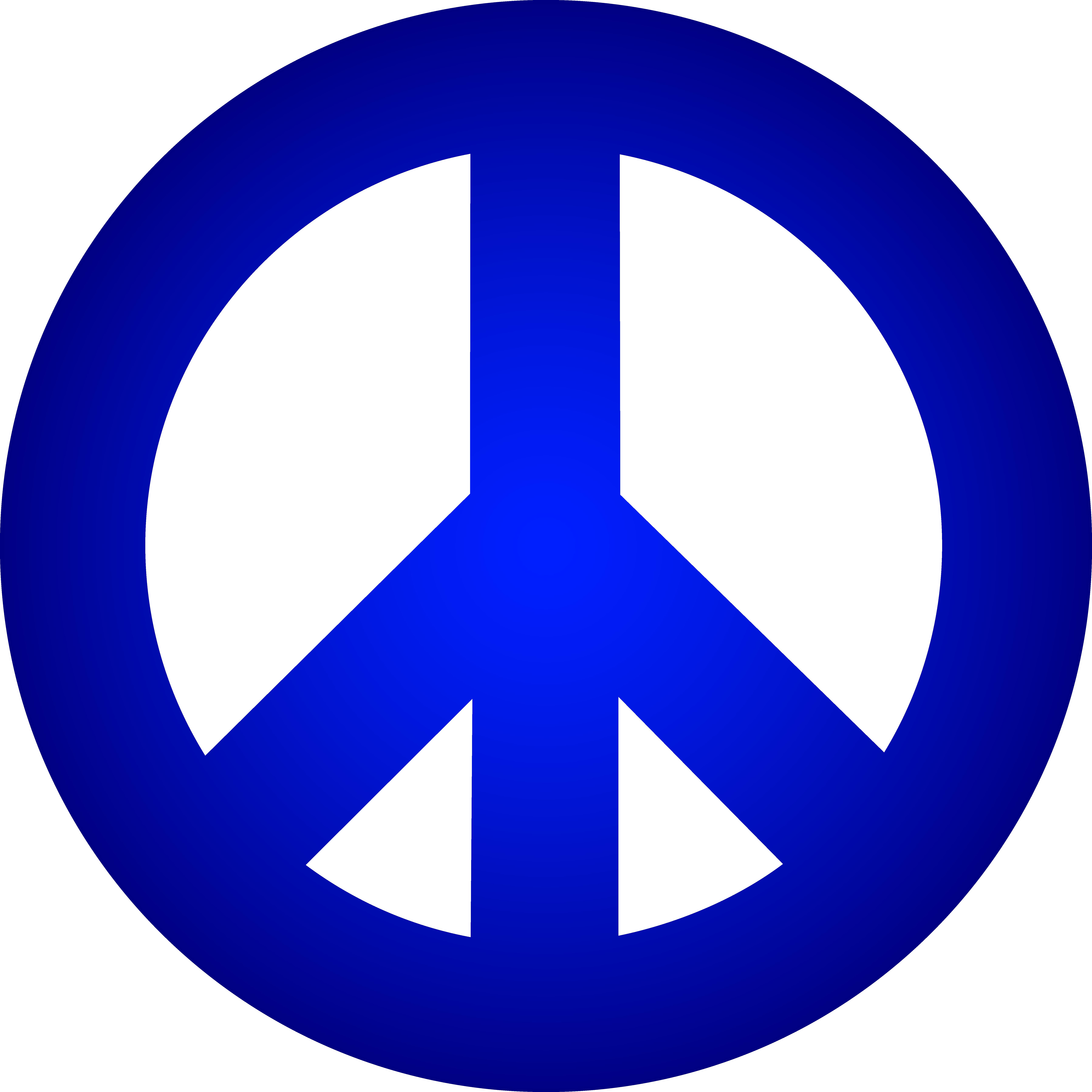 7192x7192 Blue Peace Sign Clipart Panda