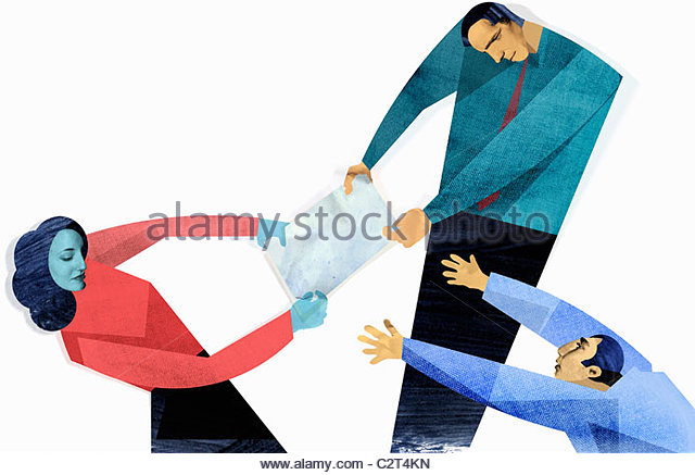 640x437 Business People Fighting Over Paper Stock Photos Amp Business People