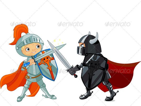 590x446 Fighting Knights By Dazdraperma Graphicriver