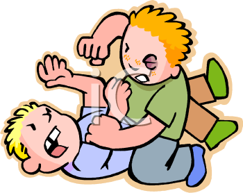 350x278 People Fighting Clipart