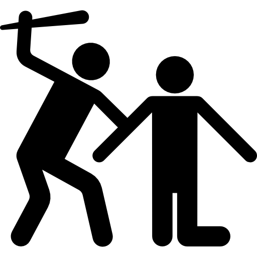 512x512 Fighting, Fight, People, Silhouette Icon