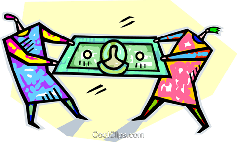 480x288 People Fighting Over Money Royalty Free Vector Clip Art