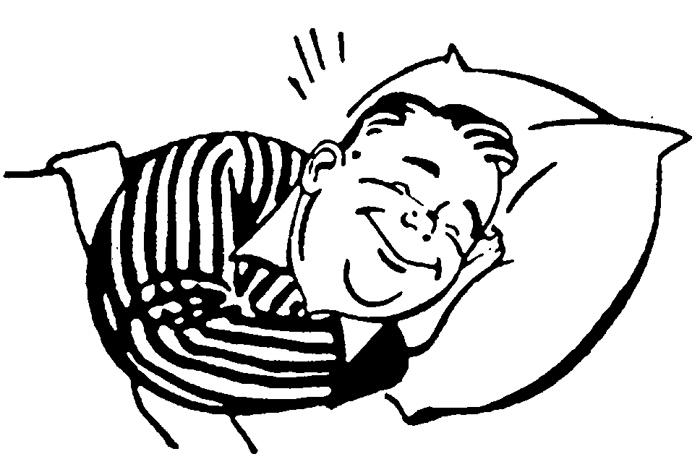 700x467 Bed Clipart Sleepy Man