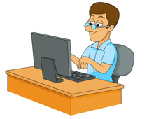 210x170 People Clipart Computer