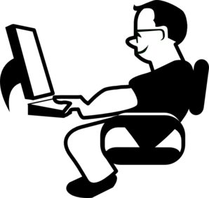 298x282 Person Working On Computer Clipart