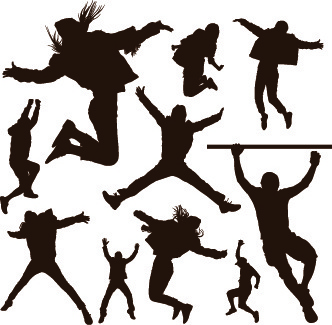 332x325 Working People Computer Silhouettes Free Vector Download (13,831