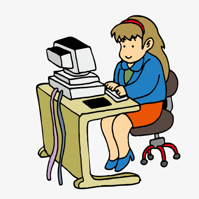 650x651 Computer Staff, Computer, Cartoon, Working People Png And Vector