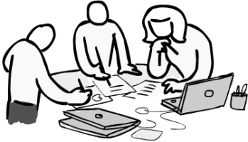 349x200 Clipart Of People Working