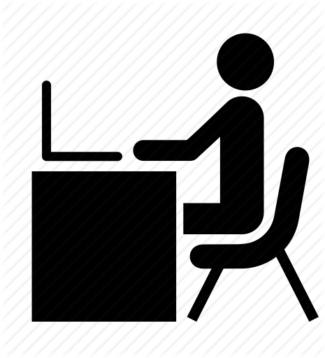 465x512 Computer, Desk, Laptop, Man, Office, People, Person Icon Icon