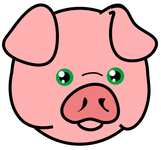 643x600 Gallery For Show Pig Clip Art Free
