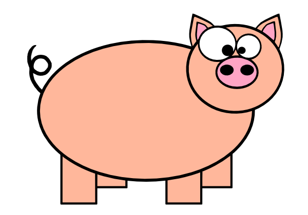 600x420 Animated Pig Clipart