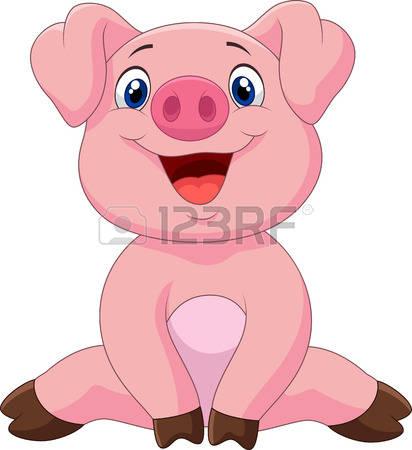 412x450 Pig Clipart Vector