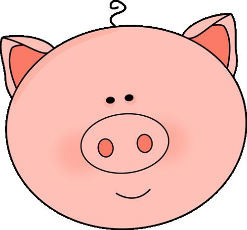 500x465 Cute Pig Clipart