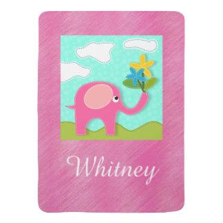 324x324 Pink Elephant Baby Blankets Amp Pink Elephant Baby Swaddle Blanket