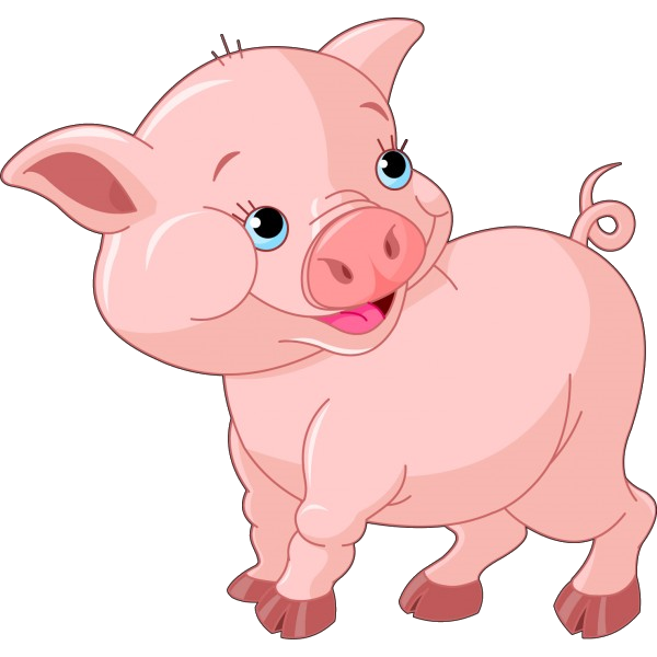 600x600 Funny Cartoon Pigs