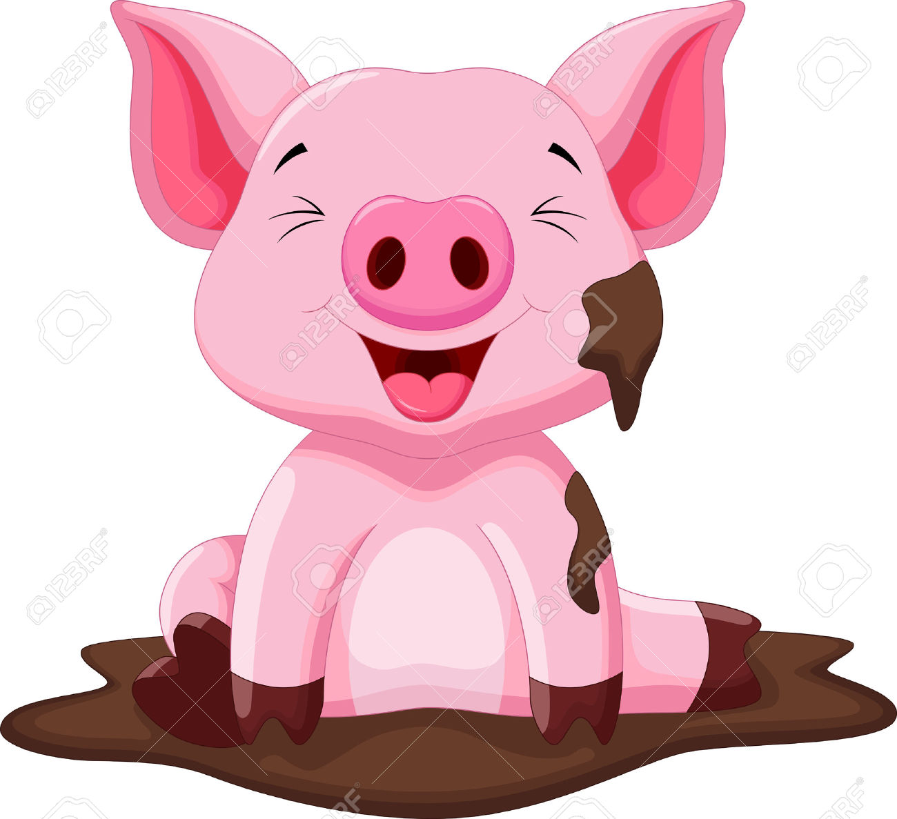 1300x1187 Mud Clipart Farm Pig