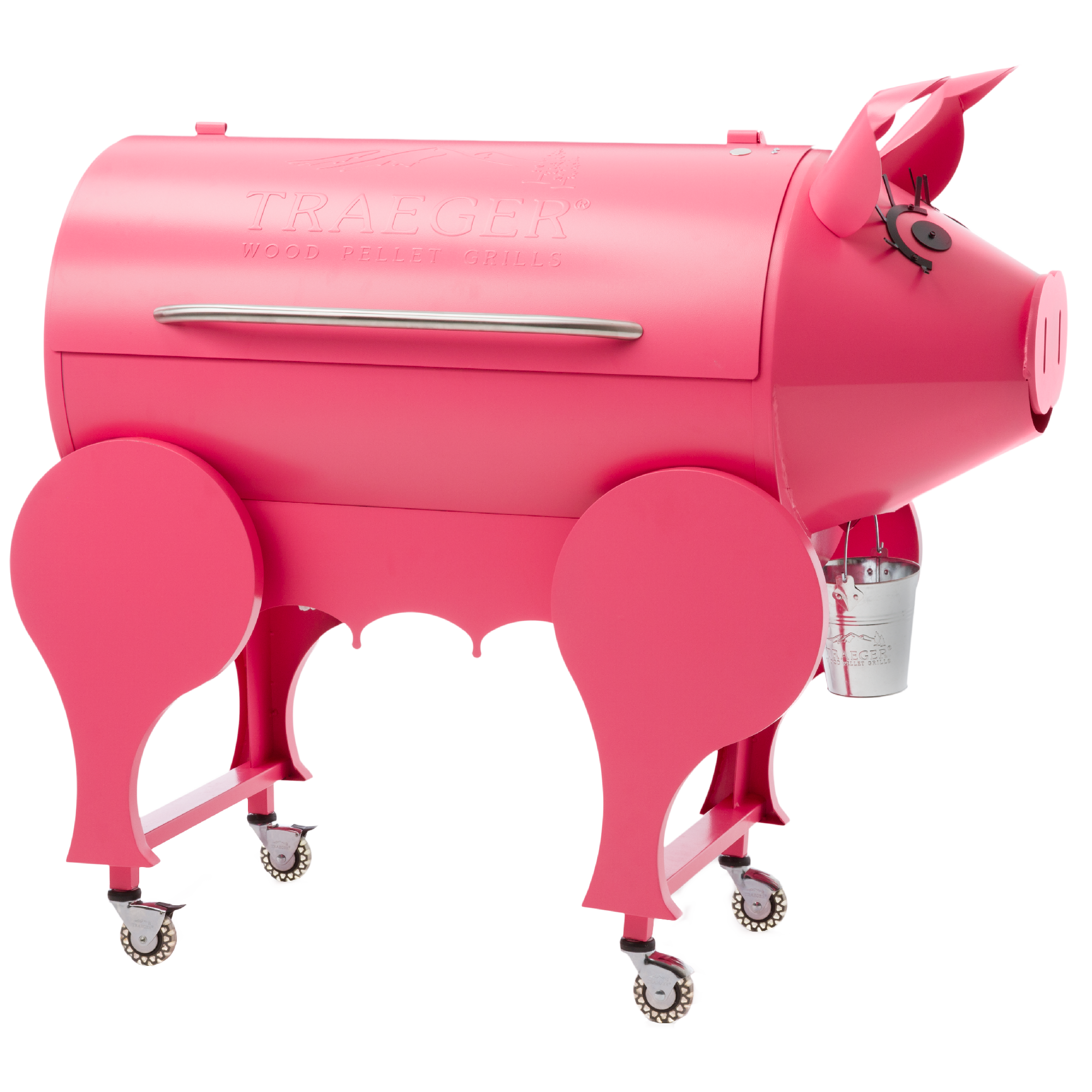 2000x2000 Pink Lil' Pig Pellet Grill Traeger Wood Fired Grills