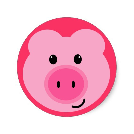 512x512 Pink Pig Stickers