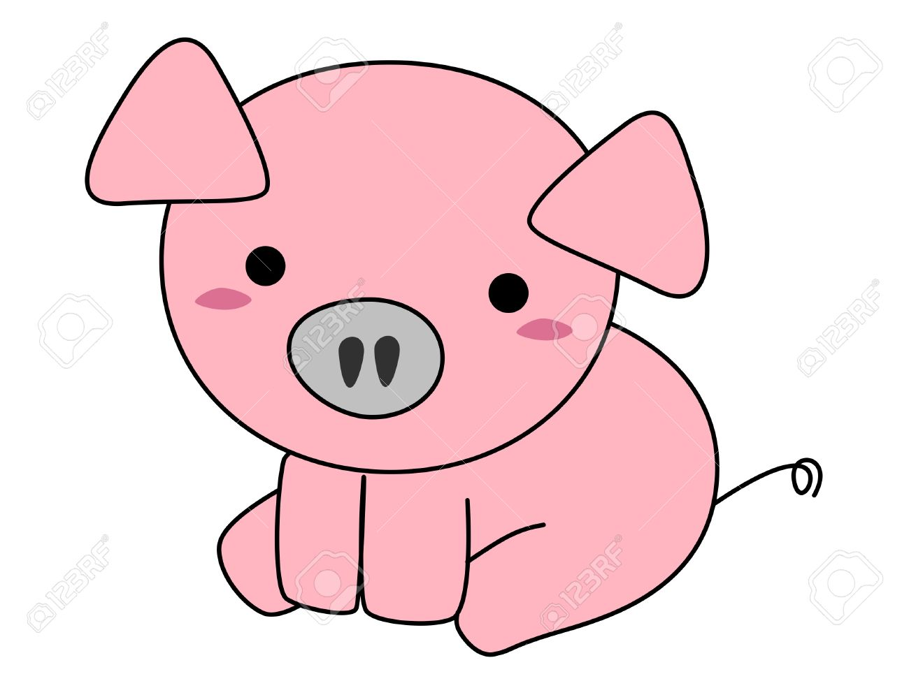1300x975 Cartoon Pig