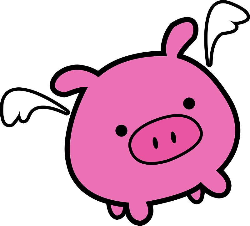 800x722 Cute Pink Flying Pig Stickers By Pigswithwings Redbubble