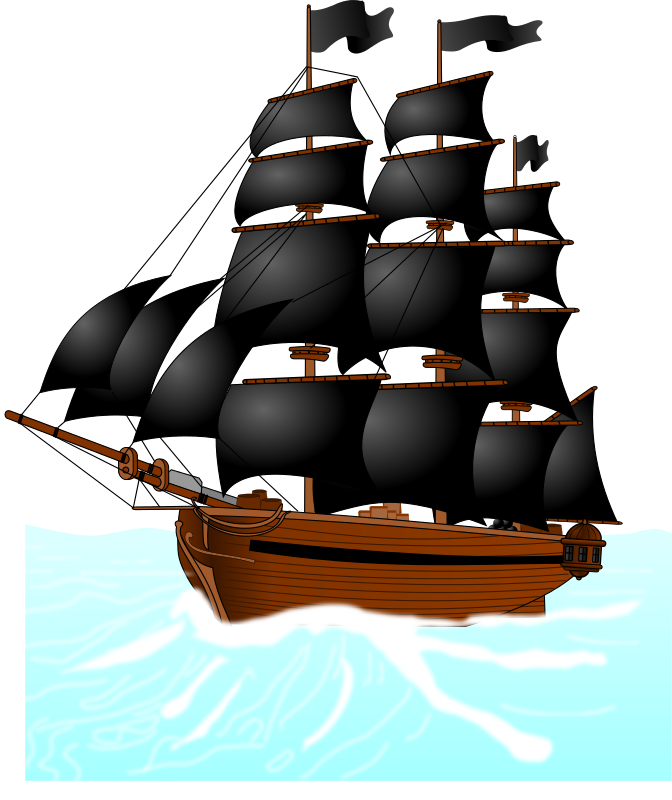 672x800 Free Pirate Ship Clip Art