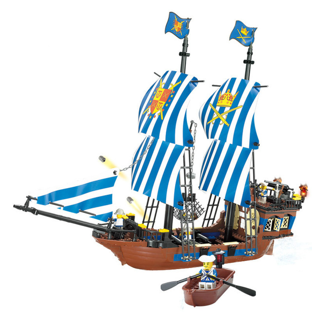 640x640 Kazi 608pcs Pirates Kings Pirate Ship Model Building Blocks Sets