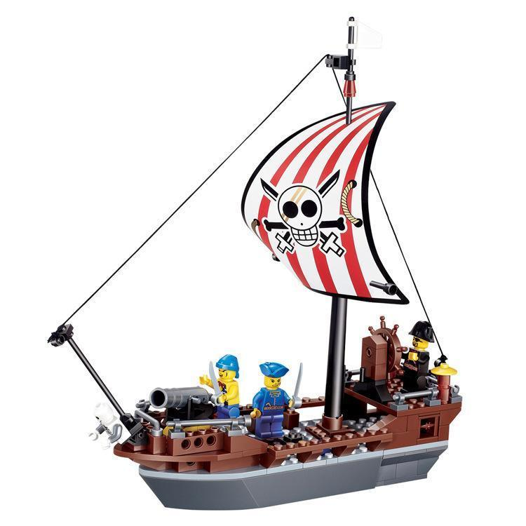750x750 Minifigure Preventer Pirate Ship (197 Pieces)