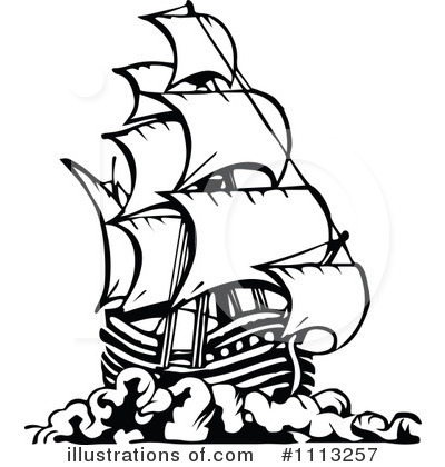 400x420 Pirate Ship Clipart