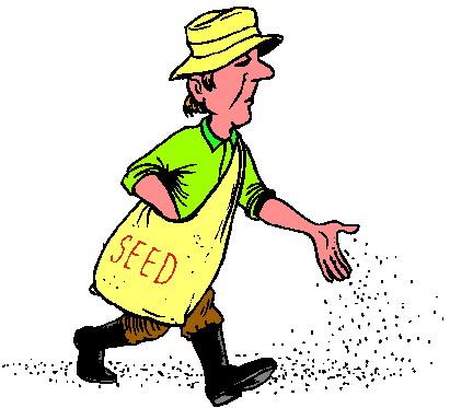 411x373 Farmer Planting Seeds Clipart