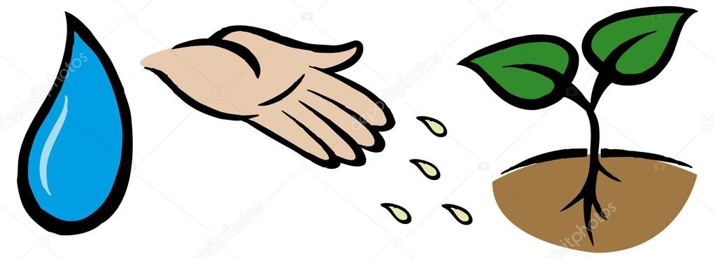 1022x370 Seeds Clipart Hand Planting