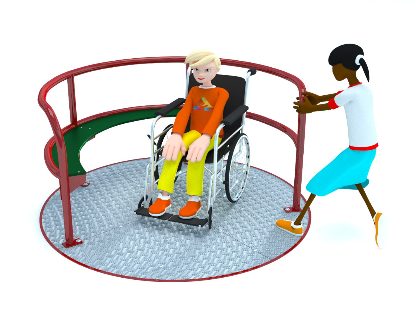 1440x1080 All Inclusive Wheelchair Accessible Playground Equipment