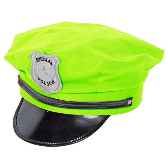 640x640 Hat Police Neon Green