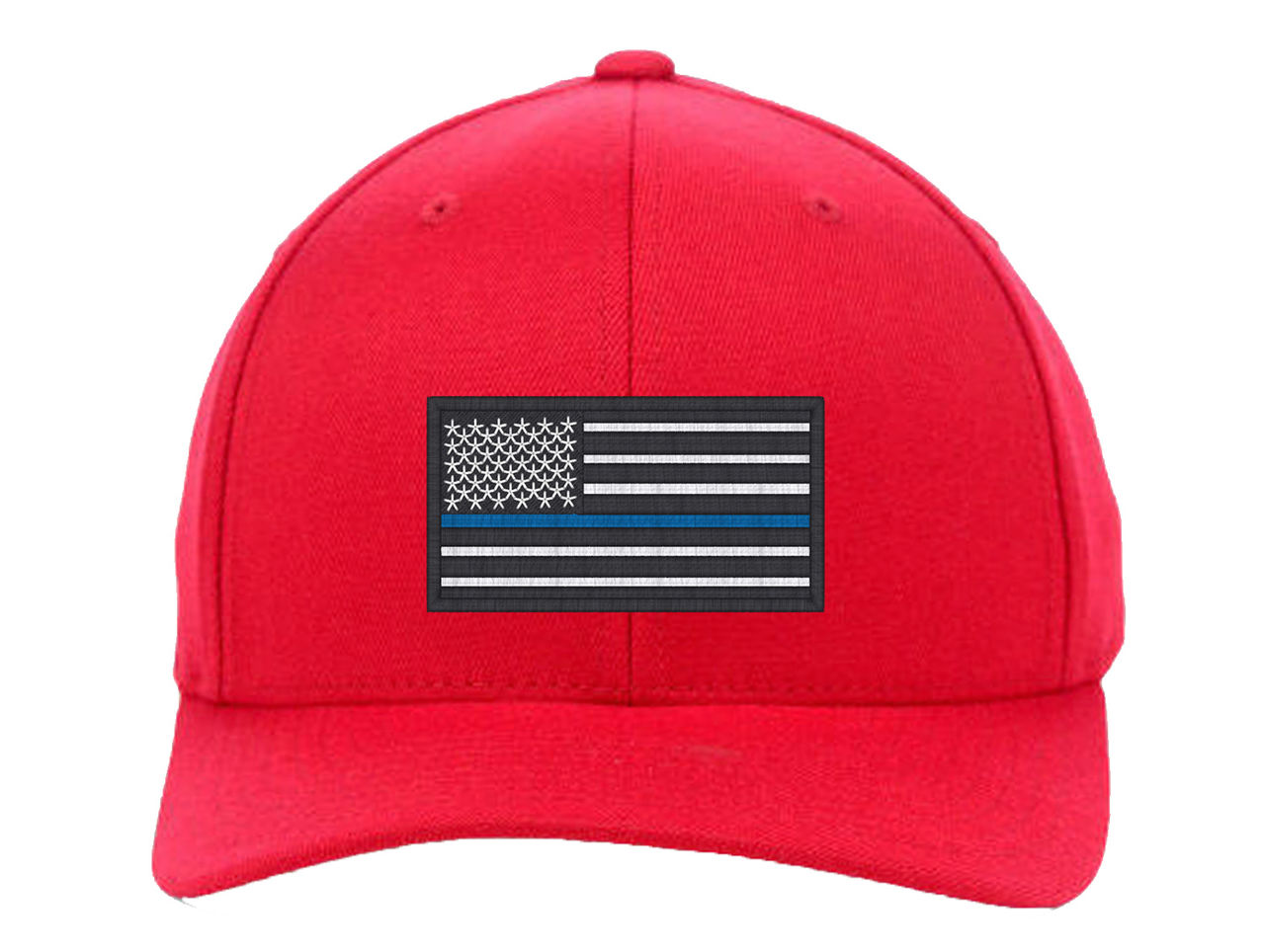 1279x964 Usa Flag Blue Line, Local Police Department Support Embroidered