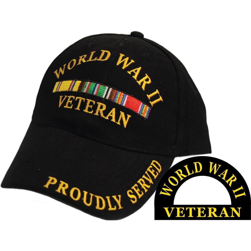 1000x1000 World War Ii Veteran Proudly Served Hat Black Sports
