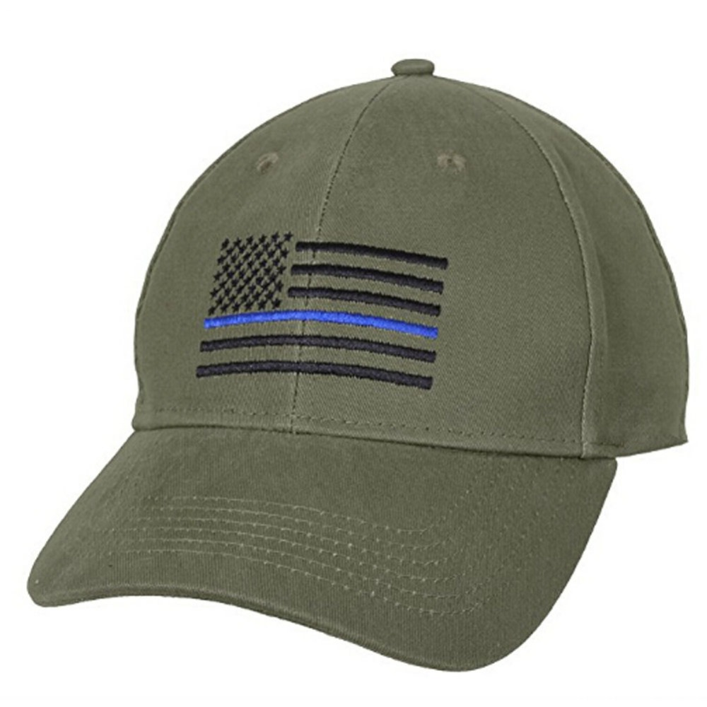 1000x1000 American Flag Thin Blue Line Flag Low Profile Tactical Hats