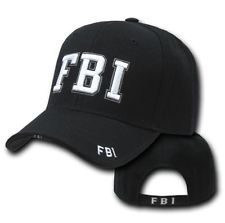 225x223 Black Gold Fbi Police Officer Cops Adjustable Baseball Cap Caps