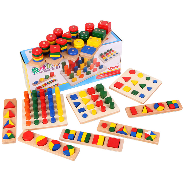 750x750 Children Montessori Teaching Aids Preschool Geometry Learning