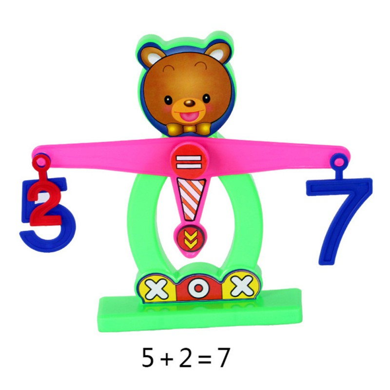 800x800 Kids Balance Toy Plastic Balance Beam Scale Measuring W Bear