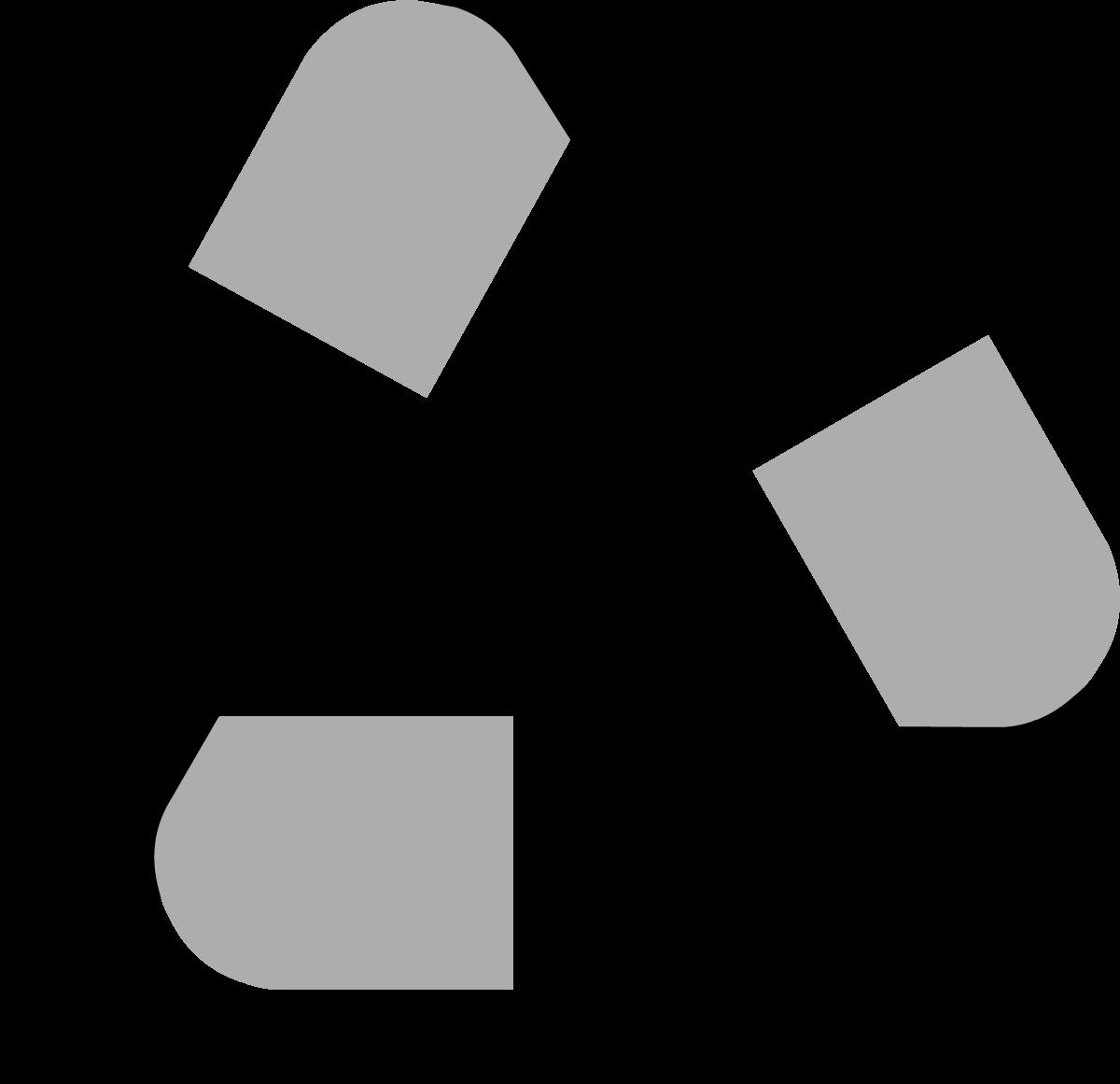 1200x1161 Black Universal Recycling Symbol Logo Sign