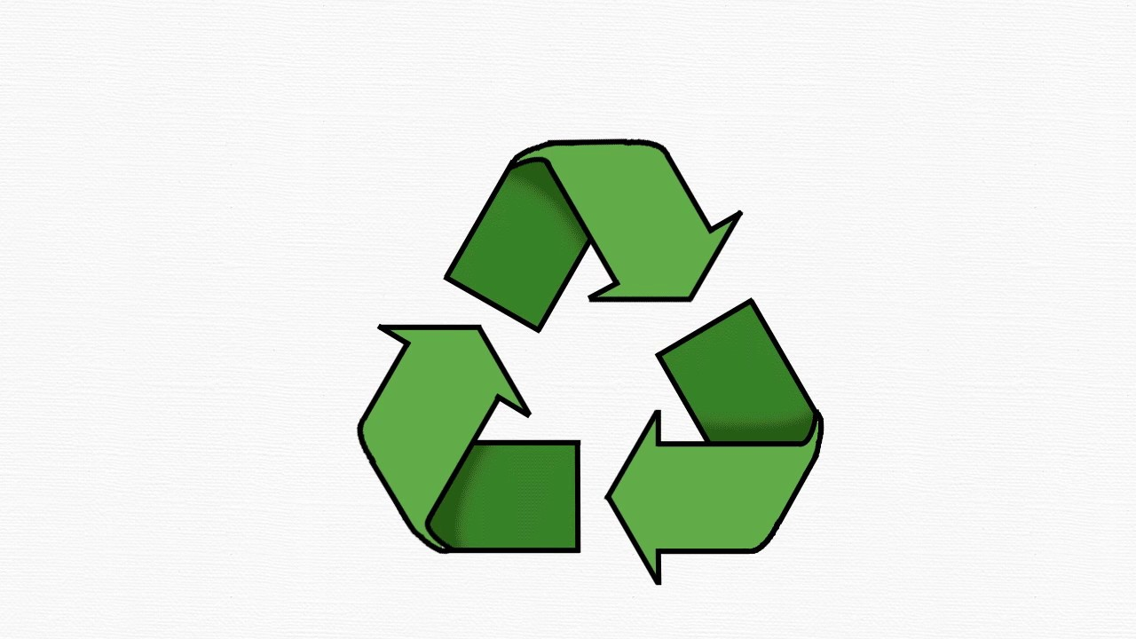 1280x720 Kyoodoz Let's Draw Recycling (Recycle) Symbol