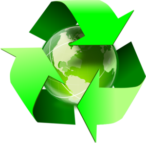 300x294 Recycle Symbol With Earth Clip Art