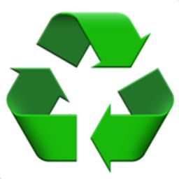 256x256 Recycling Symbol Emoji U 267b, U fe0f