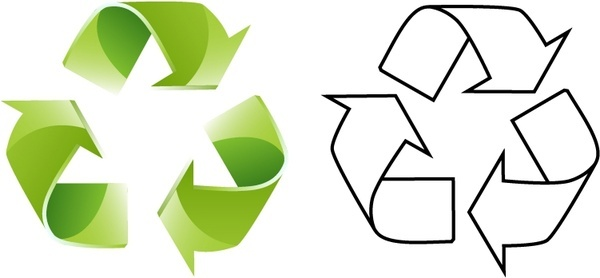 600x278 Recycling Symbol Free Vector Download (16,714 Free Vector)